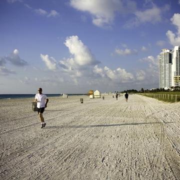 La spiaggia di South Beach